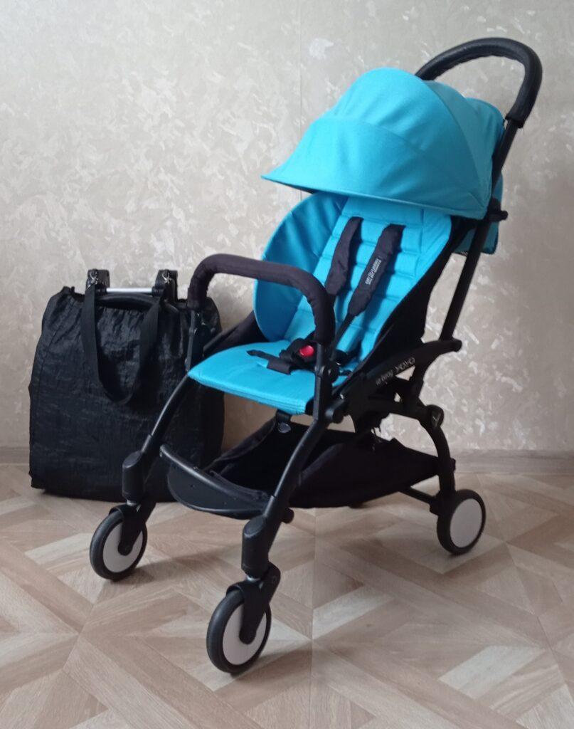 коляска yoya голубая