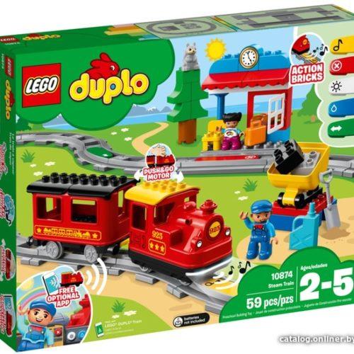 Lego duplo 10874 Поезд на паровой тяге