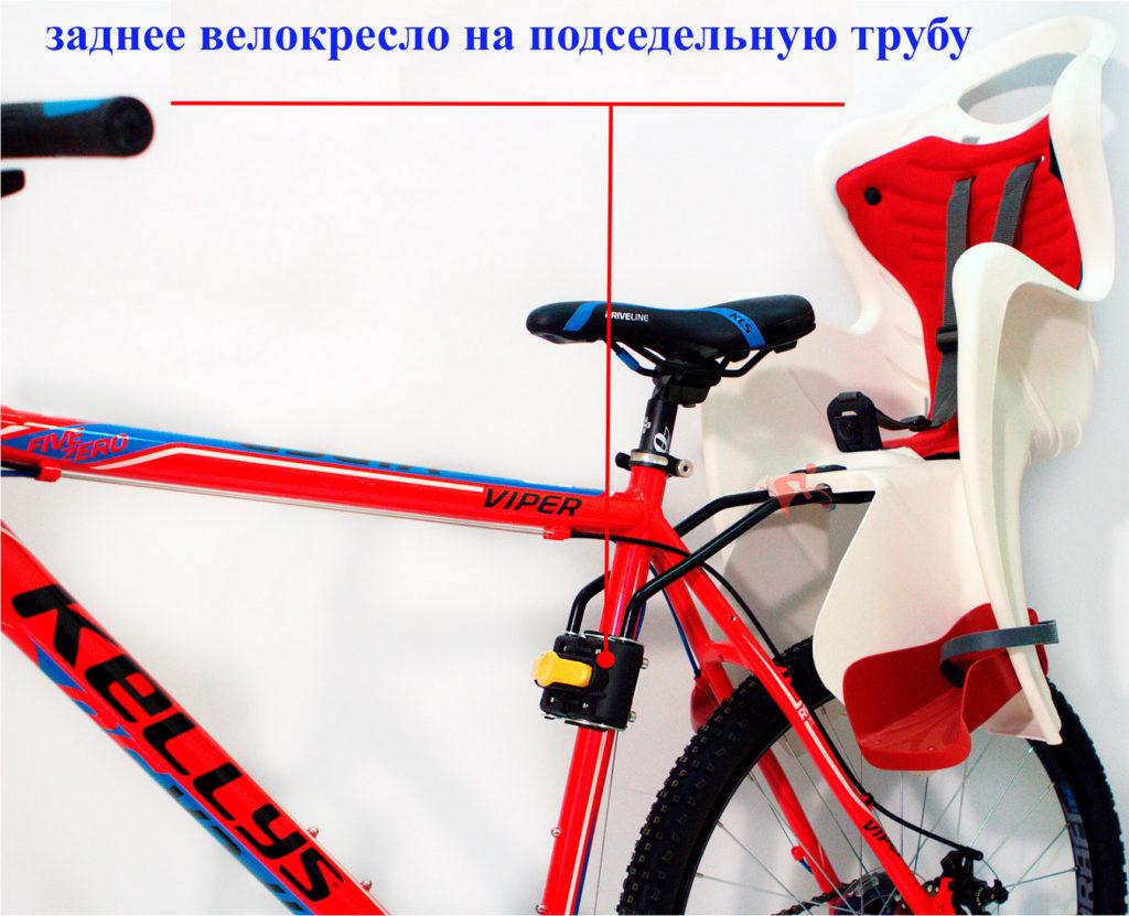 велокресло на подседельную трубу прокат