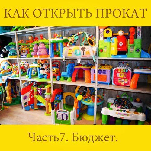 бюджет проката детских товаров